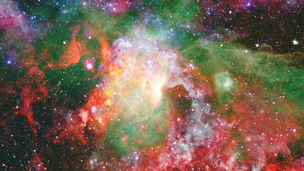 Composition of nebulae and stars. Elements of this image furnished by NASA.