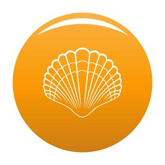 Big shell icon. Simple illustration of big shell vector icon for any design orange