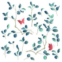 日本的な植物のイラスト,