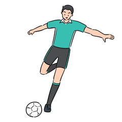 vector of soccer player