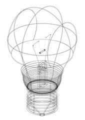 light bulb Architect blueprint - isolated