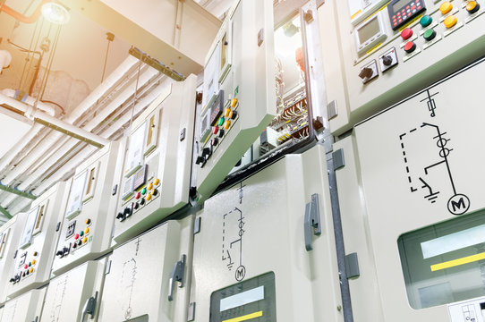open cover electrical switch gear panel