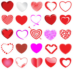 heart style vector set