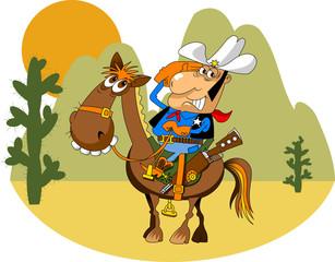 Foto op Textielframe Wild West merry sheriff
