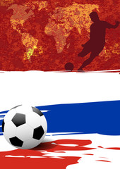 Vertical layout template design of the poster for russian football competition tournament,