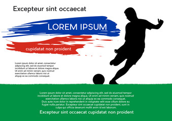 Layout template design of the poster for russian football