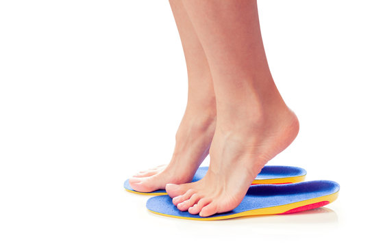 orthopedic insoles and female feet