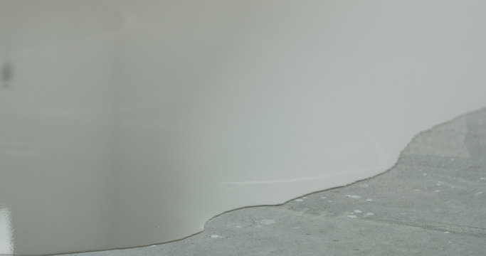 leveling floor with self leveling wet floor