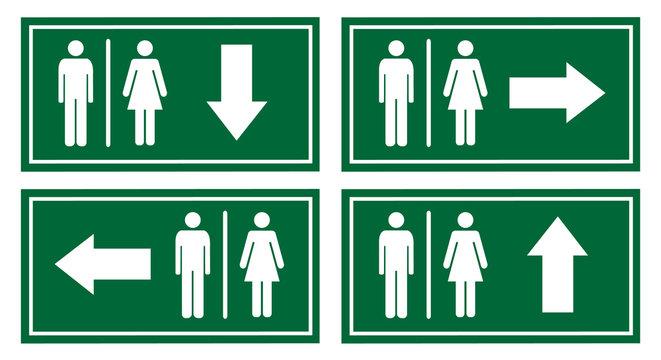 toilet signage vector set