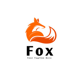 sit down fox standby for looking logo