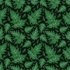 Seamless fern pattern