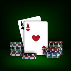 Casino poker design template vector