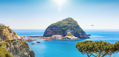 Small village Sant'Angelo on Ischia island, Italy