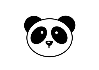 Cute animal panda logo design