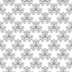 Gray seamless pattern on white background