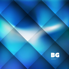 Blue Wallpaper, Background, Flyer or Cover Design for Your Business with Abstract Striped and Checkered Pattern - Applicable for Reports, Presentations, Placards, Posters - Creative Vector Template