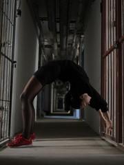 Girl Gymnast Strong Flexible Body