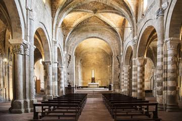 Cattedrale romanica di Sovana, in Toscana - Italia