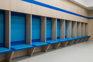 an empty locker room in the sports club, school, section