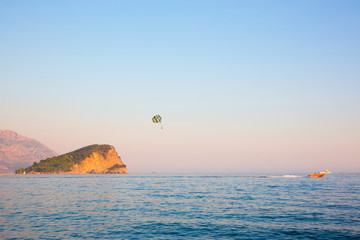 Adriatic sea. Budva Riviera