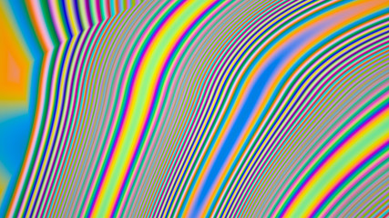 abstract rainbow holographic oil slick illustration. geometric wave colored stains. digital colorful background