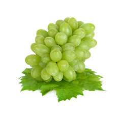 bunch of fresh grapes on isolated on white background