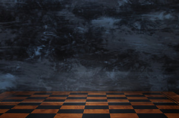 background of empty chess board