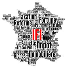 IFI, impôt sur la fortune immobilière nuage de mots