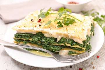 spinach and cream lasagne