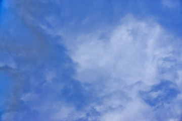 Blue sky with white clouds background;