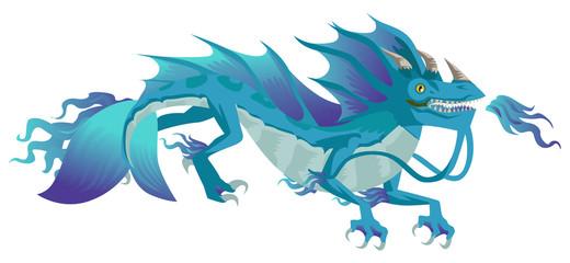 sea water chinese dragon