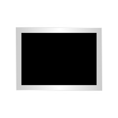 Isolated paper photo frame on a white background