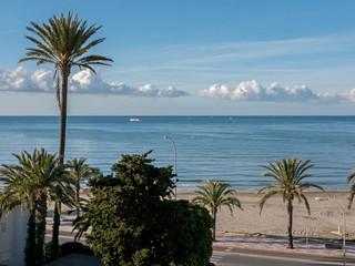 Küstenline in Santa Pola, Alicante, Spanien