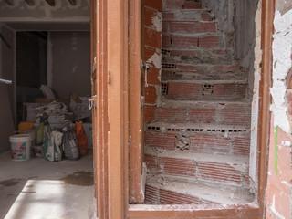 Treppe bei der Renovierung