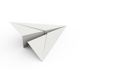 Paper Plane on White Background Concept Background