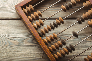 Vintage abacus close up Wall mural