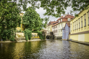 Kampa Island with Certovka River and Watermill