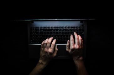 Russian hacker hacking the server in the dark web, Deep Web Top dark net