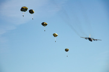 Airborne operations at Fort Bragg, North Carolina