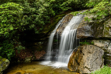 Waterfall near Bass Lake in western NC