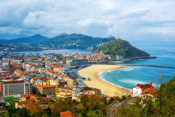 San Sebastian - Donostia city, Basque country, Spain Wall mural