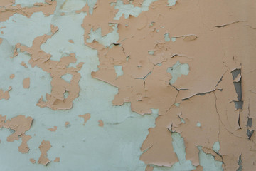 Texture of shabby paint plaster on the wall