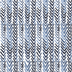 Seamless watercolour pattern with indigo ribs on white for wrapping, textile, ceramic