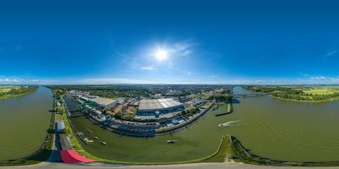 über dem Rhein vor Worms 360° VR Panorama