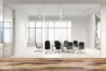 Star wall pattern glass office meeting room blur