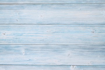 Abstract, textures or backgrounds concept : Top view of blue wooden planks, rustic wallpaper with copy space