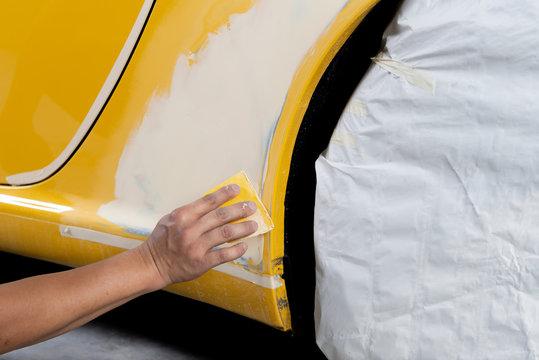 Auto body repair series: Applying putty
