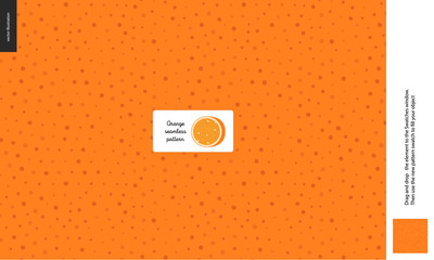 Food patterns - fruit, orange texture - a seamless pattern of the orange rind