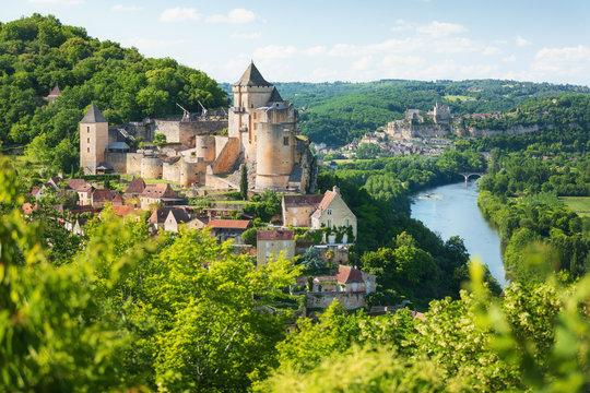 Village of Castelnaud-La-Chapelle in Dordogne department in France