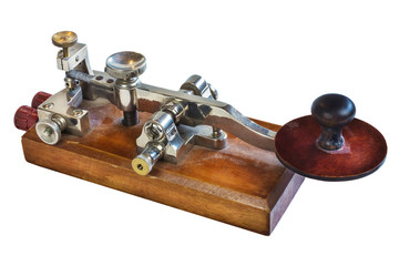 Ancient morse code telegraphy device